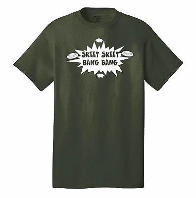 (SKEET SKEET BANG BANG T-SHIRT FUNNY HUNTER GUNS SKEET SHOOTER SEX JOKE BORAT)