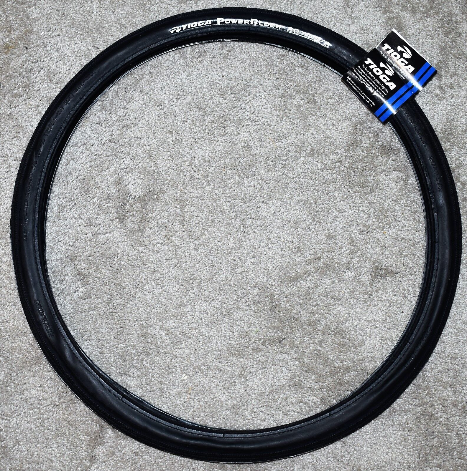 Tioga PowerBlock Tire Tioga Powerblock 20x1-1//8 Wire Bk