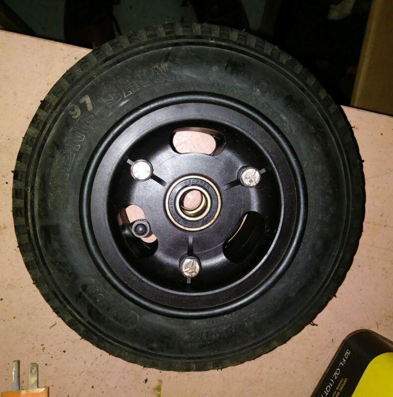 "9x3"" Split Wheel composite 2.80/2.50-4 Tire w/ bearings Wheelchair, cart, dolly"