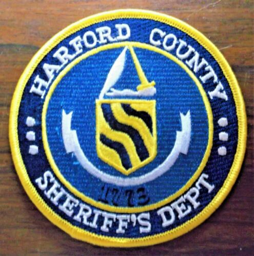 GEMSCO NOS Vintage Patch SHERIFF HARFORD COUNTY MD - 25+ year old