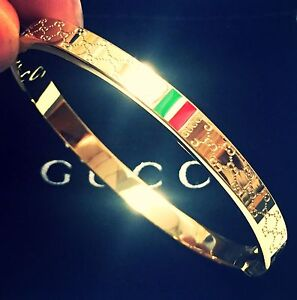 Gucci Bangle Women's Vintage Gold Size 16 cm Brand New
