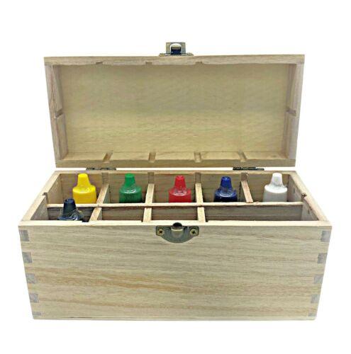 Gold Silver Test Kit Storage Box 10K 14K 18K 22K Platinum Jewelry 24K Tester