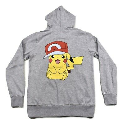 Pikachu Hoodie For Men (Pokemon Mens Pikachu Wearing Hat Hoodie New S   Small Pink Mark on)