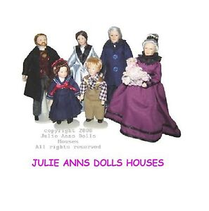 1-12th-SCALE-FAMILY-OF-SEVEN-PEOPLE-DOLLS-HOUSE-MINIATURE-JULIE-ANNS