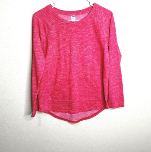 Old Navy Relaxed CrewNeck Pullover Sweatshirt Long Sleeve Top Red Girls Sz XL 14