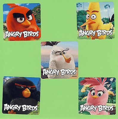 15 Angry Birds Movie - Large Stickers - Party Favors - - Angry Bird Party Favors