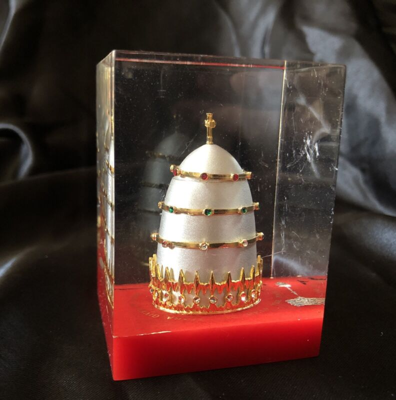 KOC Tiara Paper Weight Pope Paul VI Mitre Hat Knights Of Columbus Fraternal Org.