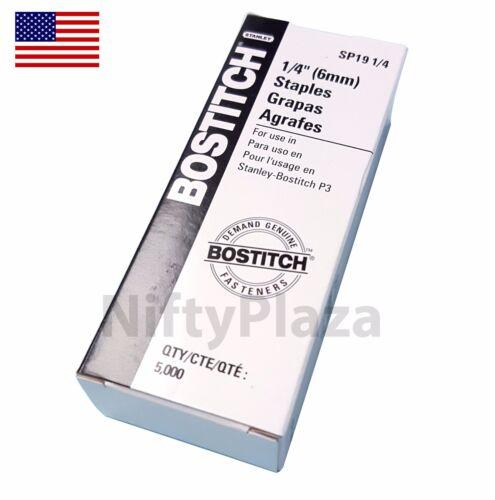 P3 Bostitch Staples 5000 per box SP19 1/4 Genuine Staples Free Shipping US Stock