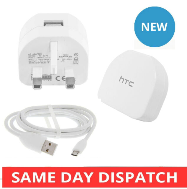 Genuine HTC One M9 Mains Wall Charger High Output 1.0A Wall AC Adapter B270 UK