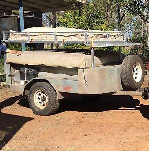 Off Road Camper Trailer with Boat Rack and Basket Coominya Somerset Area Preview