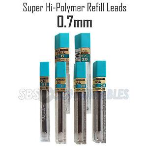 Pentel-0-7mm-Super-Hi-Polymer-Mechanical-Pencil-Refill-Leads-3H-2H-H-HB-B-2B