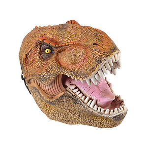 DINOSAUR PVC ADULT MASK ANIMAL PARTY FANCY DRESS COSTUME ACCESSORY