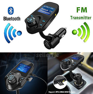 Bluetooth Wireless Car AUX Stereo Audio Receiver Radio FM Adapter USB Charger SD