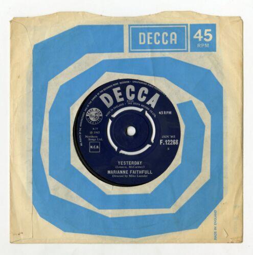 Marianne Faithfull 1965 Yesterday Decca UK Single F12268
