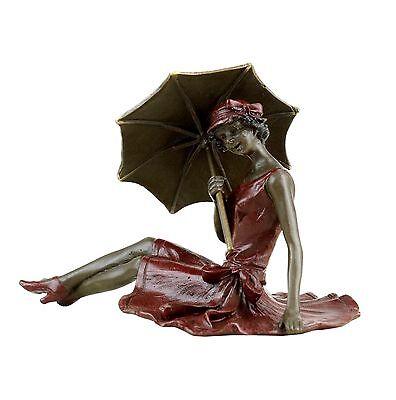 Wiener Bronze - Mädchen im Sonnenschein - Erotika - gestempelt & handbemalt