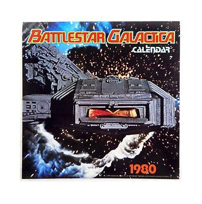Vintage 1980 Battlestar Galactica Calendar with 15 Battlestar Galactica Images