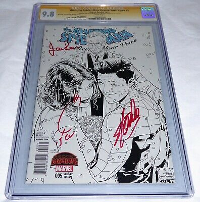 Amazing Spider-Man Renew Your Vows CGC SS 3x Signature Autograph JOANIE STAN LEE
