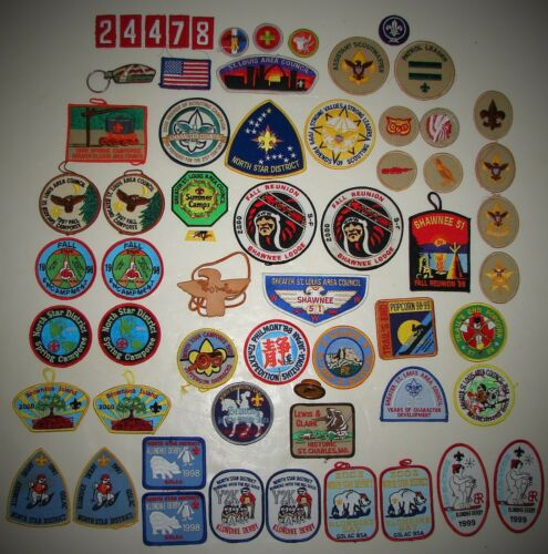 Lot of 60 Boy Scout Patches & MORE Order of the Arrow Philmont Merit Camporee