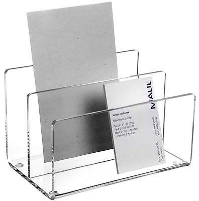 Maul Prospektständer Kartenständer Acryl glasklar 5,2x9,9x9,7 cm M076 1952005