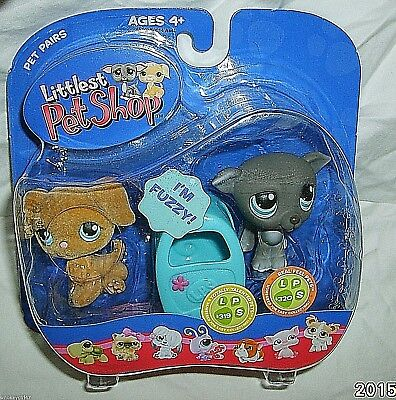Littlest Pet Shop #319 Whippet #320 Golden Retriever Dog NIP Pet Pairs