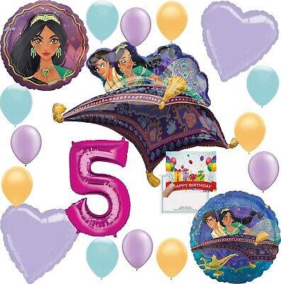Aladdin Party Supplies  Birthday Balloon Decoration Deluxe Bundle (5th Birthday) - Aladdin Birthday Party