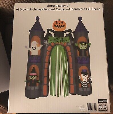 Halloween Haunted Castle Archway Airblown Inflatable 9 Ft Store Display