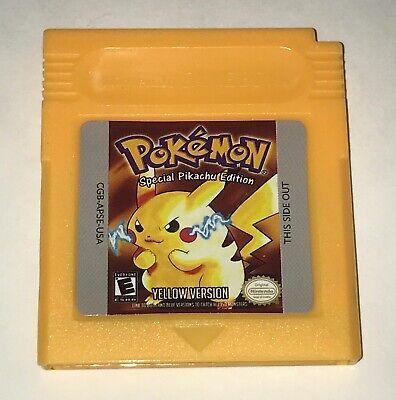 Pokemon Yellow Special Pikachu Edition Version for Nintendo GameBoy Works GB GBC