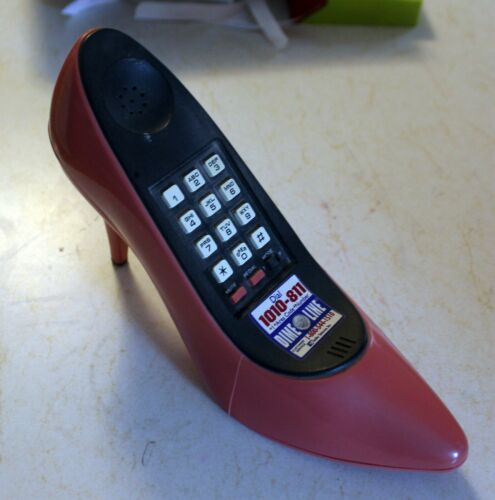Pink High Heel Shoe Telephone/Phone vintage WORKS Dime Line