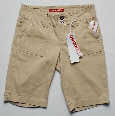 Union Bay #8395 NEW Women's Junior Flat Front Blanche Bermuda Shorts