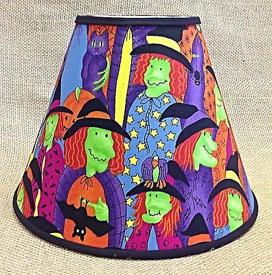 Witch Halloween Lamp Shade handmade Lampshade - Halloween Lamp Shades