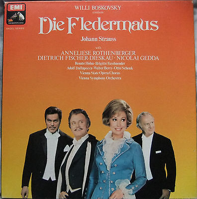 Johann Strauss Die Fledermaus Boskovsky 2 LP Box Set (HMV SLS 964)