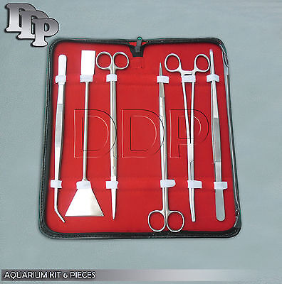 Aquarium Maintenance for live Plants Fish Tank 6 Piece Tool Kit DDP-SK-761
