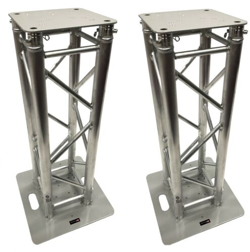 (2)DJ Lighting Aluminum Truss Light Weight Dual 2.9 ft Totem System Moving Head