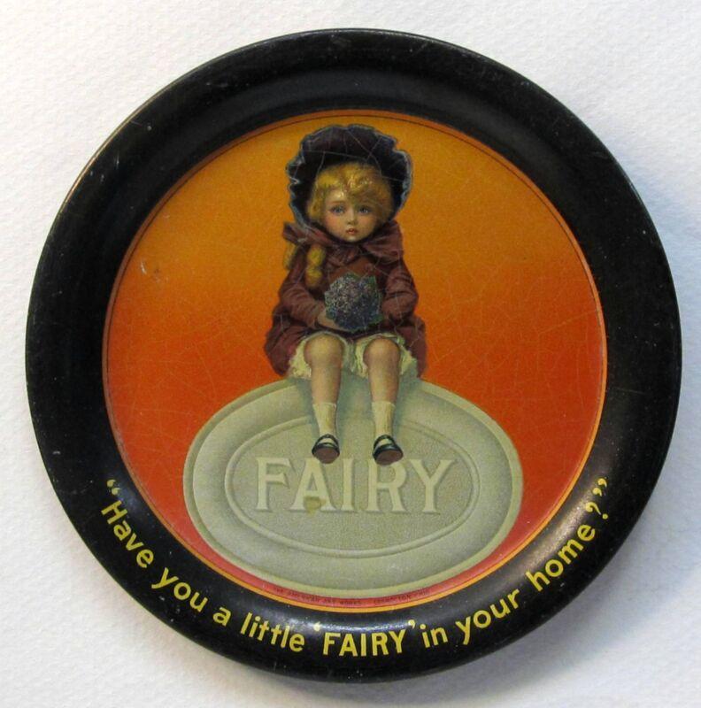 early FAIRY SOAPS tin litho tip tray ashtray