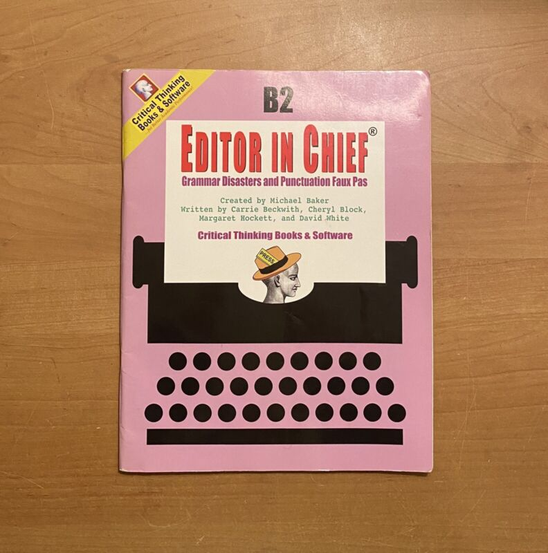 Editor In Chief Series: Grammar Disasters And Punctuation Faux Pas, Book B2