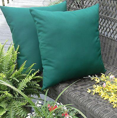 2 Pack ~ Hunter Green Solid Decorative Indoor Outdoor Throw