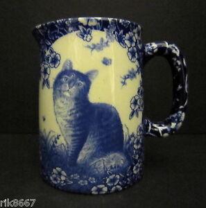 Heron Cross Pottery Calico Cat Chintz English 1/4 Pint Cream Jug