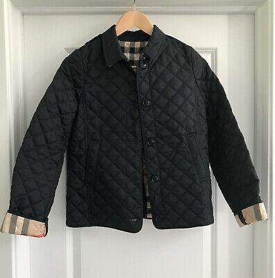 EUC Girl's Authentic BURBERRY Quilted Jacket Size 10-12
