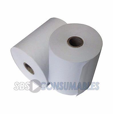- Adding Machine Rolls L57 x W57 x D12mm Pack of 5 Single Ply Receipt Paper Rolls.