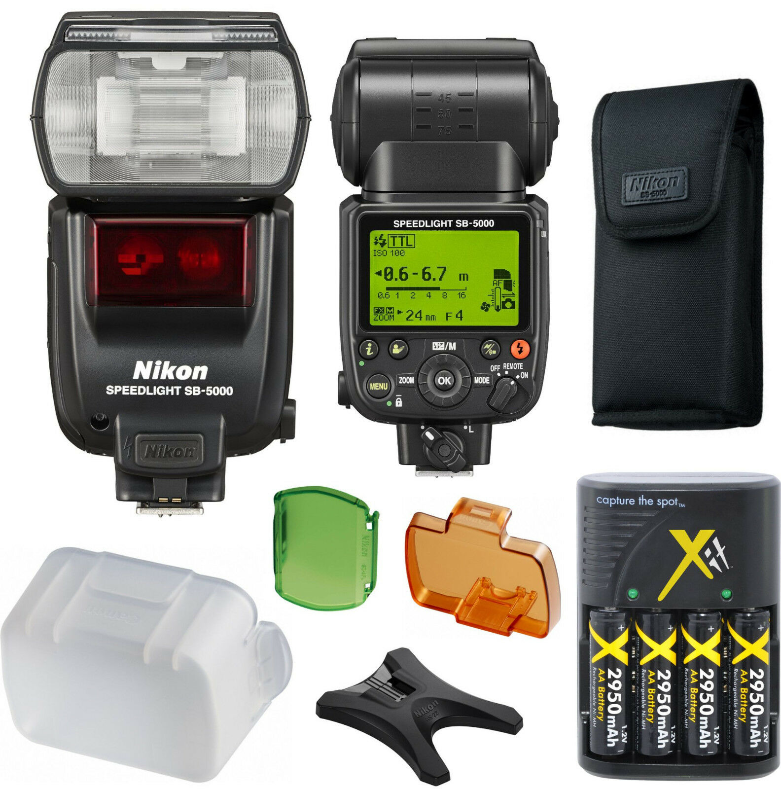 Nikon Sb-5000 Speedlight Flash (import) Accessory Kit D52...