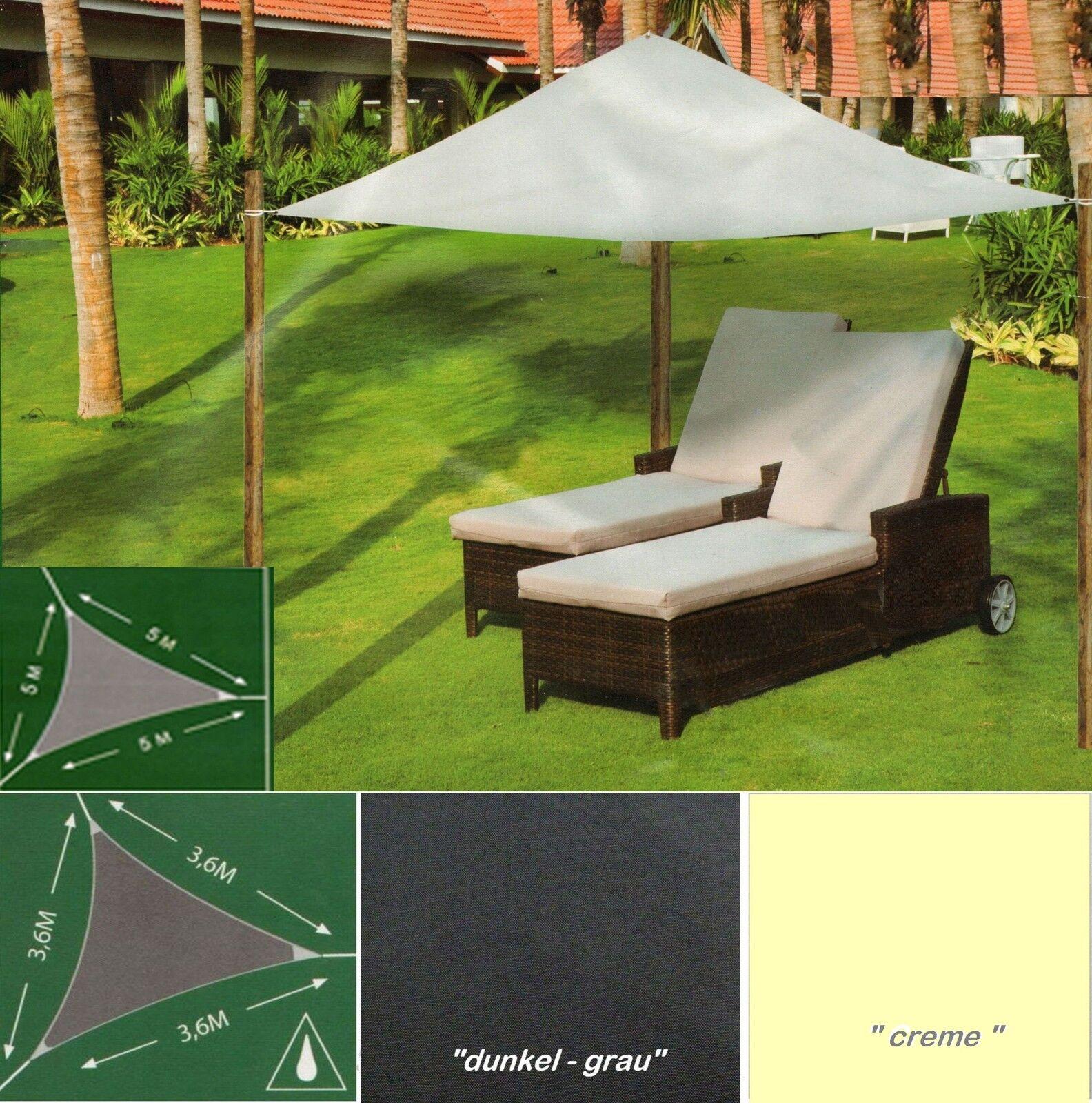 Sonnensegel Sonnenschutz Sonnendach Beschattung Balkon Terrasse Camping 2 Größen