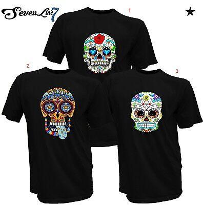 T-Shirt Mariachi Mexiko Sugar Skull Rockabilly Dia de los Muertos Totenkopf bunt