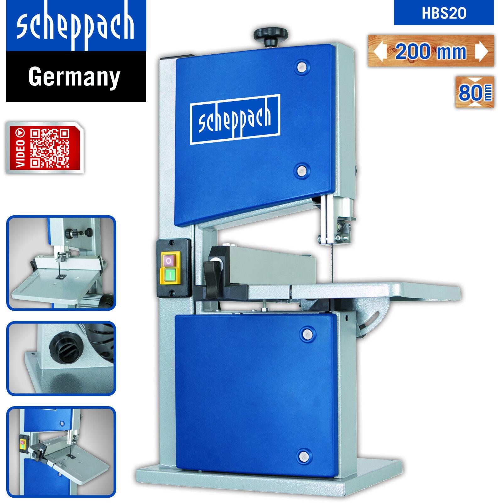 Scheppach Bandsäge HBS20 230V Durchlass 200/80mm m. Sägeband 6mm, +Schiebestock