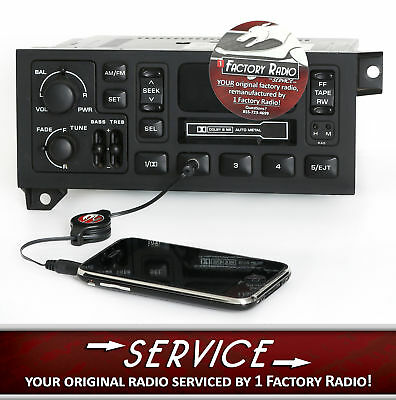 Reman & Aux Mod SERVICE for 1978-02 Chrysler Jeep Dodge Car Truck AM FM CS Radio