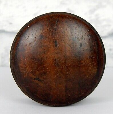 Antique Victorian Chest of Drawers Spare Wooden Bun Knob Pull Mahogany #J