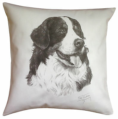 Bernese Mountain Dog MS Breed of Dog Themed Cotton Cushion Cover - Perfect Gift