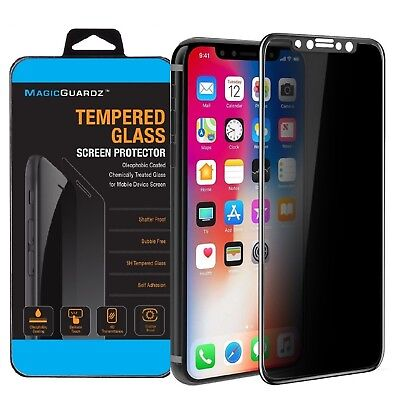Full Cover Tempered Glass Screen Protector For Apple iPhone X...