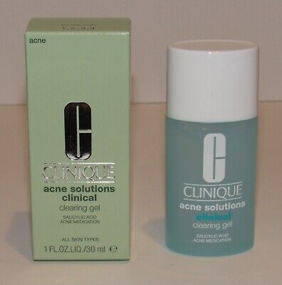 Clinique Acne Solutions Clinical Clearing Gel 1 Oz 30 mL NIB Salicylic Acid
