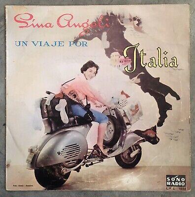 Lina Angeli'Un Viaje Por Italia' ultra rare Peruvian LP Vespa GS 150 scooter