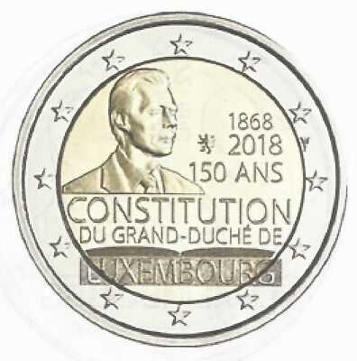 LUXEMBURG I 2018- 2 euro- 150 jaar Grondwet van GH Luxemburg/150ans Constitution